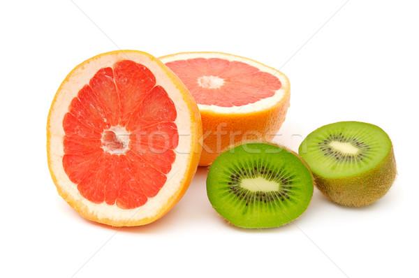 Grapefruit kiwi natuur vruchten najaar foto Stockfoto © Serg64