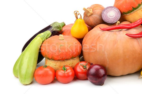 Coleção legumes frescos isolado branco fruto fundo Foto stock © Serg64