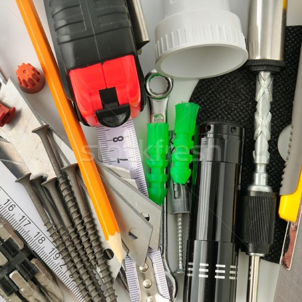 коллекция инструменты белый стороны группа молота Сток-фото © serg64
