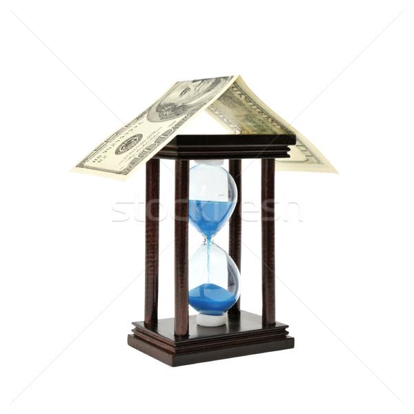 sand-glass and dollar Stock photo © Serg64