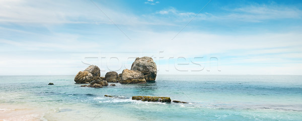 large rock in the ocean Stock photo © serg64