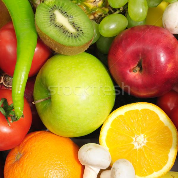 Gyümölcsök zöldségek izolált fehér gyümölcs narancs Stock fotó © Serg64