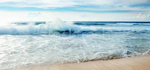 Okyanus dalgalar mavi gökyüzü plaj güneş manzara Stok fotoğraf © serg64