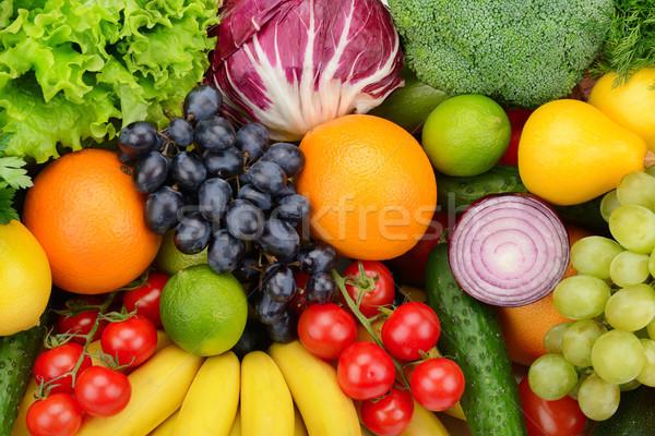 set fruit and vegetable Stock photo © serg64