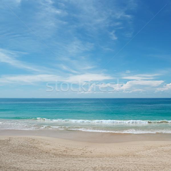 Dalgalar deniz mavi gökyüzü plaj güneş manzara Stok fotoğraf © serg64