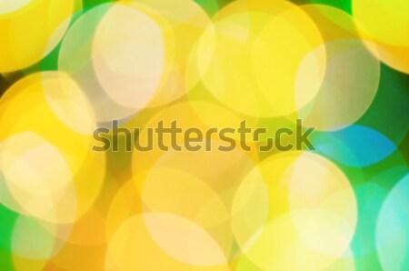 Blur abstract afbeelding zon Blauw witte Stockfoto © serg64
