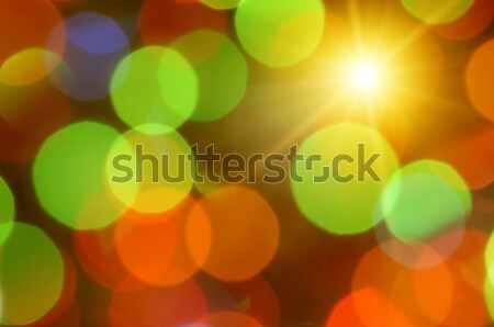 colorful abstract background with sun Stock photo © serg64
