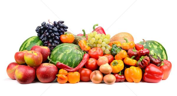 Coleção fruto legumes isolado branco comida Foto stock © serg64