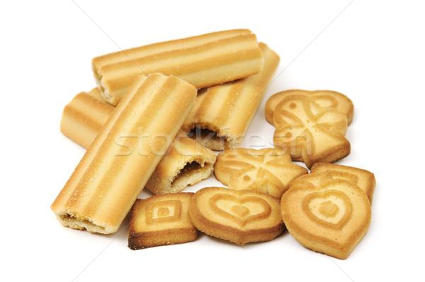 Kurabiye yalıtılmış beyaz gıda kek grup Stok fotoğraf © serg64