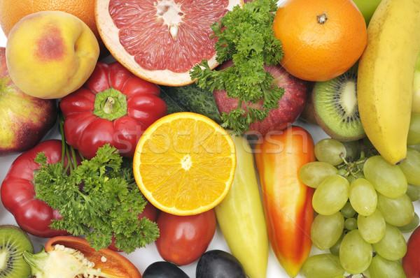Friss gyümölcsök zöldségek alma gyümölcs egészség Stock fotó © serg64