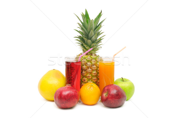 Glass with juice and fruits Stock photo © Serg64