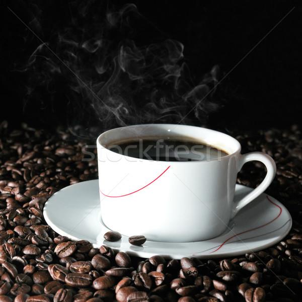 Fincan kahve fincanı kahve gıda arka plan Stok fotoğraf © serg64