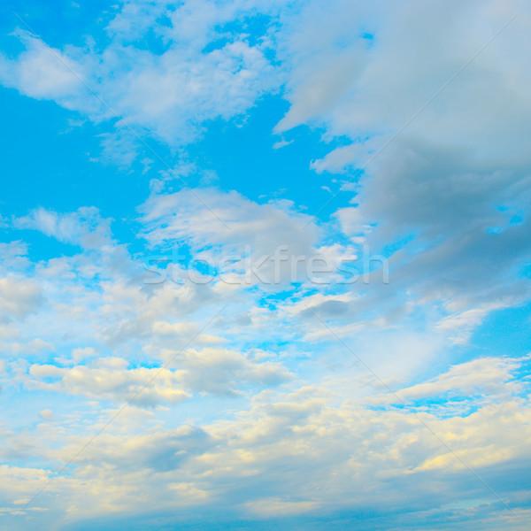 Licht wolken blauwe hemel hemels landschap hemel Stockfoto © serg64