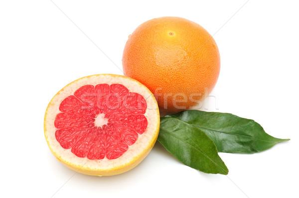Grapefruit oranje geïsoleerd witte zomer groep Stockfoto © serg64