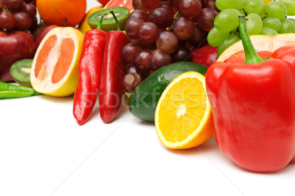 Frutas legumes isolado branco fruto fundo Foto stock © Serg64
