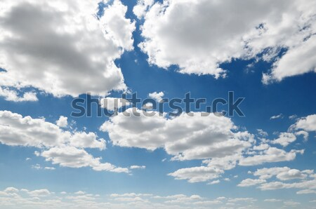 Cirrus clouds in the blue sky. Stock photo © serg64