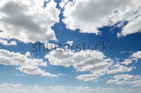 Wolken blauwe hemel mooie landschap licht achtergrond Stockfoto © serg64