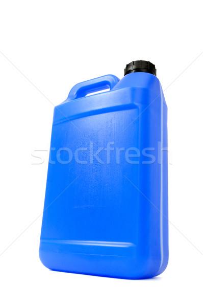 Lata isolado branco azul foto líquido Foto stock © Serg64