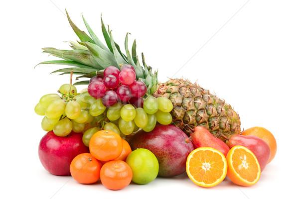 Taze meyve yalıtılmış beyaz elma arka plan Stok fotoğraf © serg64