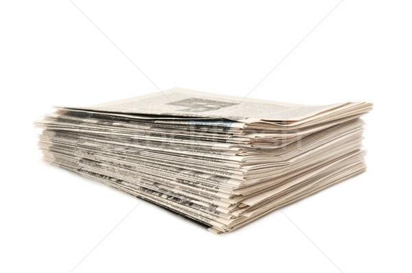 Periódicos aislado blanco oficina fondo comunicación Foto stock © Serg64