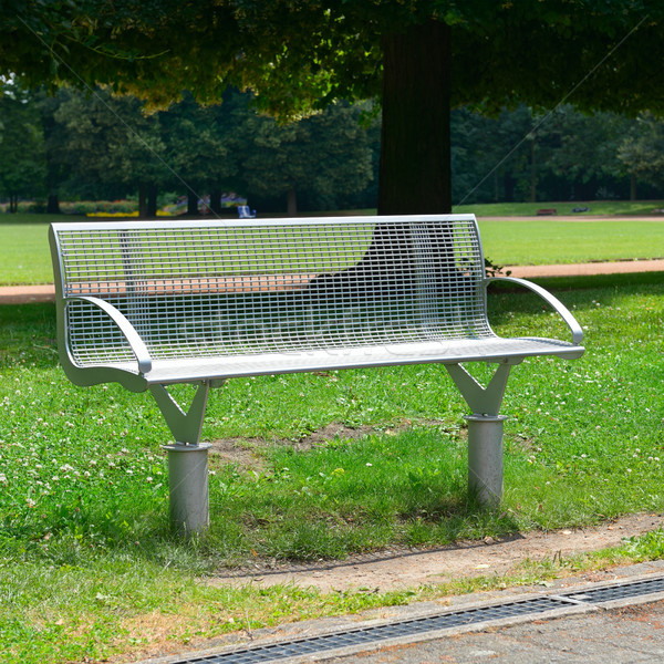 Garden bench in the park Stock photo © serg64