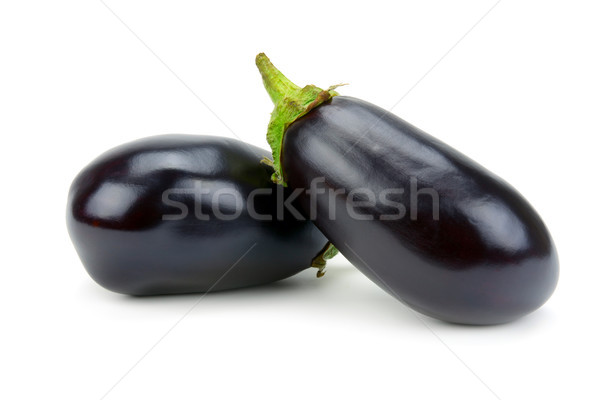 Twee aubergine geïsoleerd witte tuin achtergrond Stockfoto © serg64