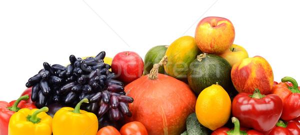 Assortiment fraîches fruits légumes isolé blanche Photo stock © serg64