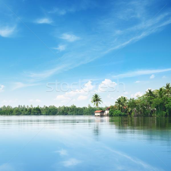 Сток-фото: большой · озеро · красивой · небе · воды · природы