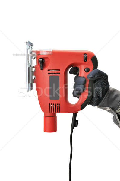 Stock photo: Electric fret saw