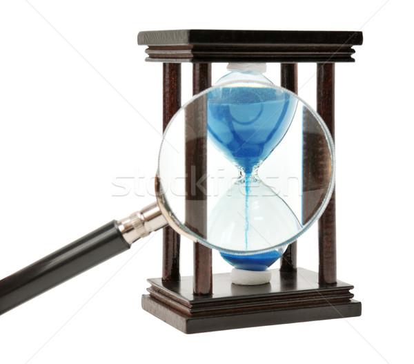 Kum saati yalıtılmış beyaz iş cam Stok fotoğraf © Serg64
