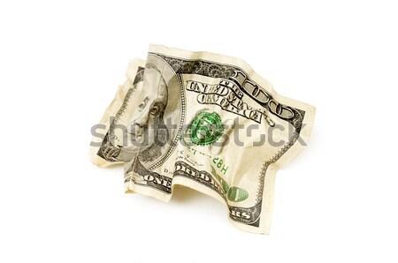 crumpled american dollars Stock photo © Serg64