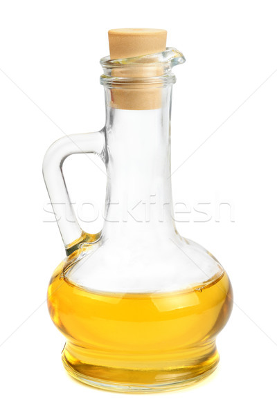 Glass carafe with vegetable oil Stock photo © serg64
