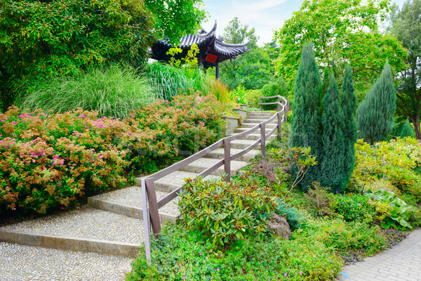 stone staircase in beautiful summer park Stock photo © serg64