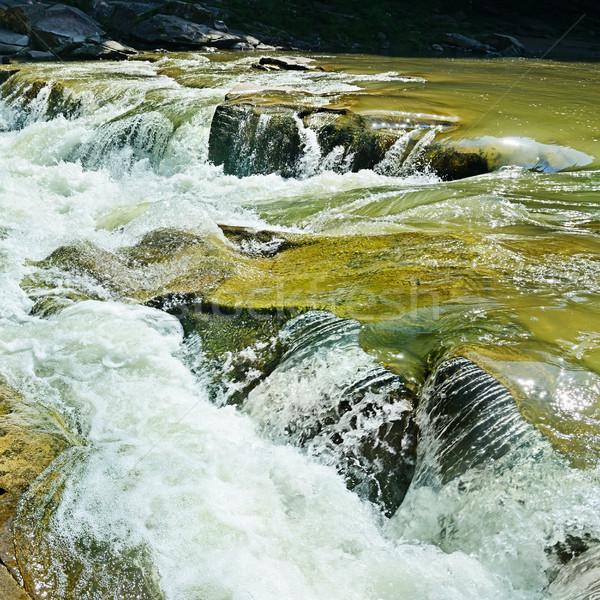 Waterfall on the mountain river Stock photo © serg64