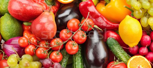 Vruchten plantaardige geïsoleerd witte achtergrond groene Stockfoto © serg64