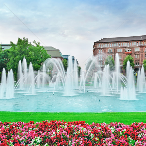 Beautiful fountain in the center of Mannheim Germany Stock photo © Serg64