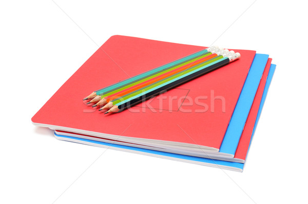 Notebook and pencils Stock photo © Serg64