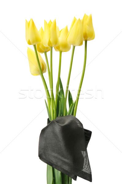 Buquê flores amarelas funeral isolado branco flores Foto stock © Serg64