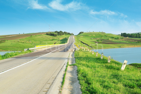 Highway in hilly terrain Stock photo © Serg64