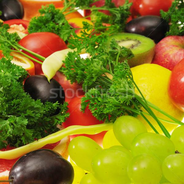 Taze meyve sebze yalıtılmış beyaz elma Stok fotoğraf © Serg64