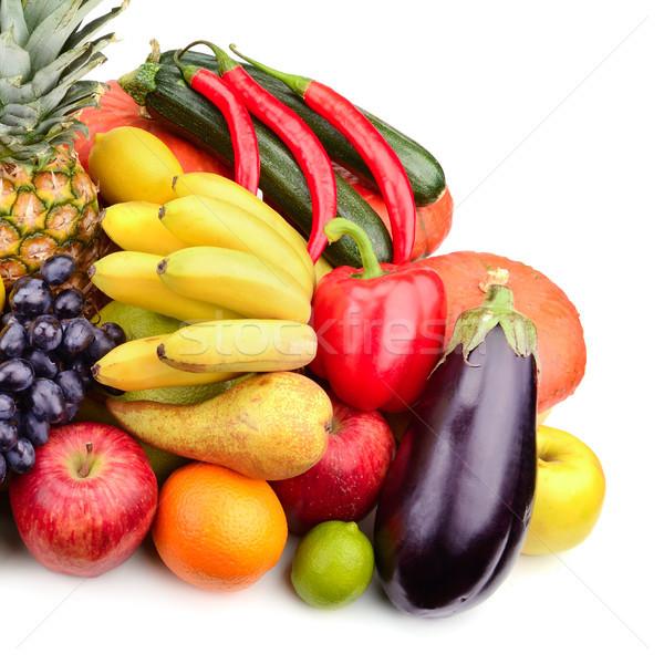 Fresco frutas legumes isolado branco verde Foto stock © serg64