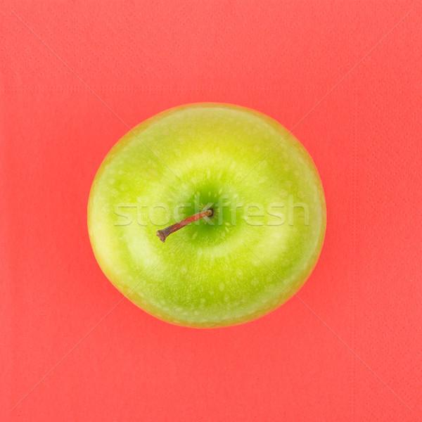 Stock fotó: Zöld · alma · piros · szalvéta · étel · levél