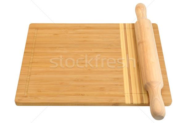 breadboard and rolling pin Stock photo © serg64