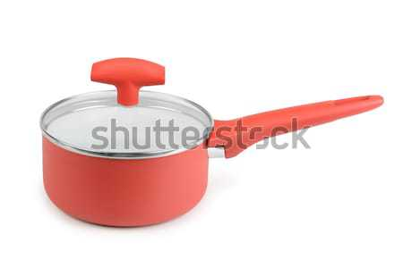 Red saucepan Stock photo © serg64