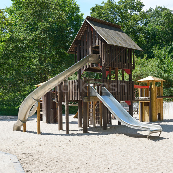 Children's playground in the park Stock photo © serg64