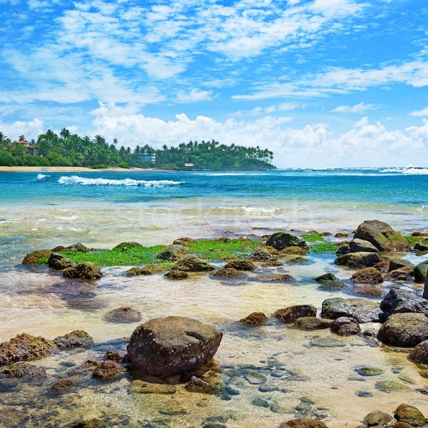 великолепный пейзаж морем тропические пляж небе Сток-фото © Serg64