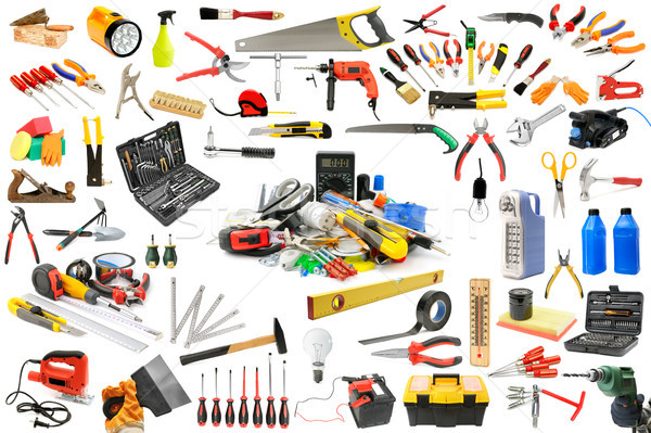 Coleção ferramentas necessário reparar manutenção casa Foto stock © serg64