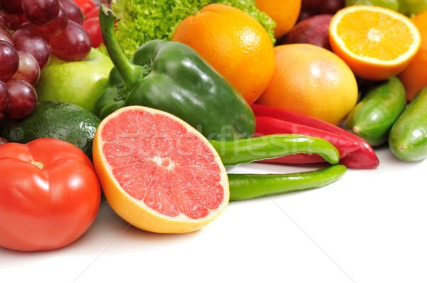 Vers vruchten groenten geïsoleerd witte appel Stockfoto © Serg64