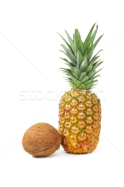 coconut and pineapple Stock photo © Serg64