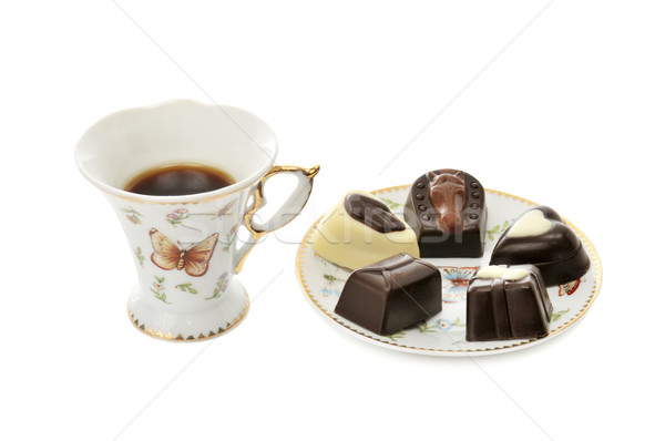 cup coffee and candies Stock photo © Serg64